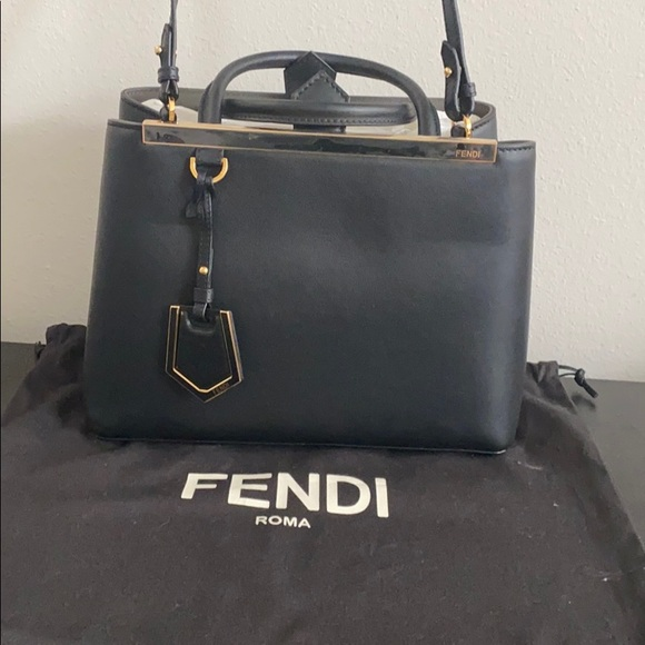 Fendi Handbags - Fendi Petite 2jours black calfskin cross body bag